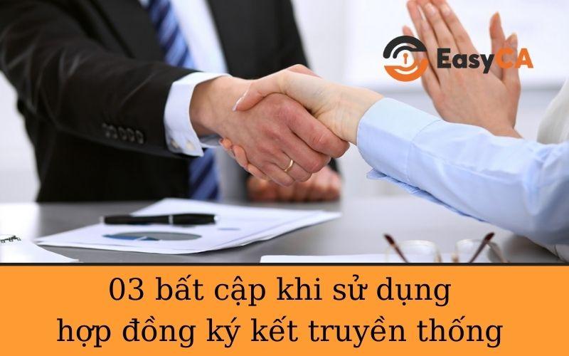hợp đồng ký kết truyền thống